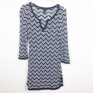 WHBM | Chevron Knit Mini Dress